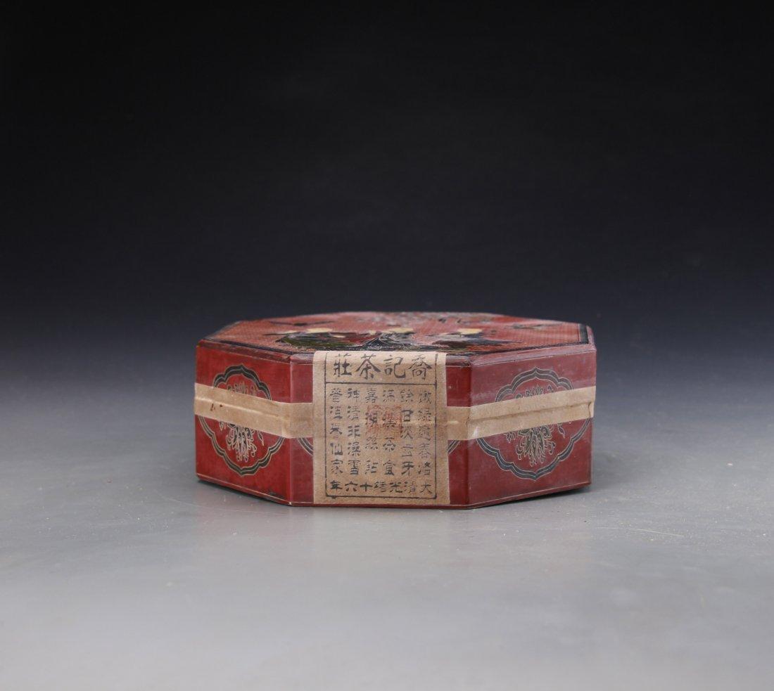 Chinese Lacqure Box with Joe Kee Tea House Pu'er Tea - 4