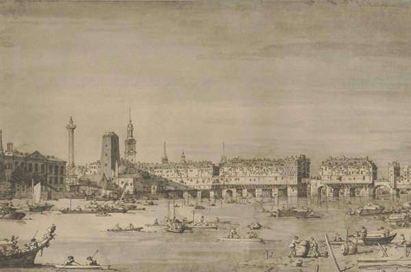 """3: """"Venice View"""" 1902 Vasari Society Lithograph. By the"""