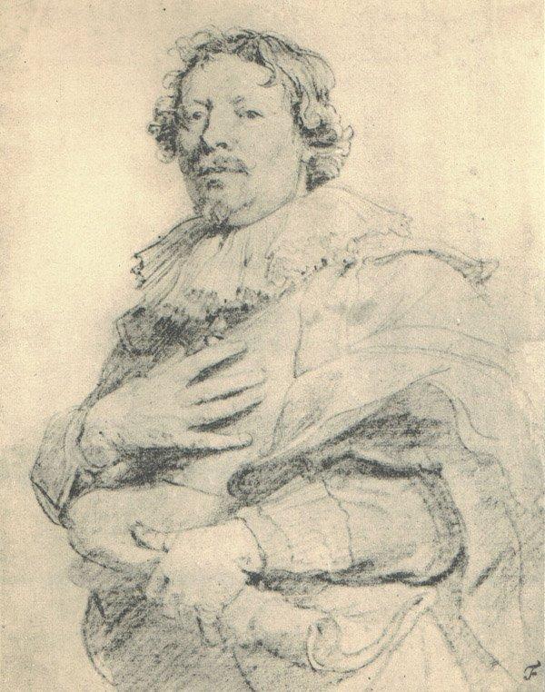 "4: ""Portrait of Gaspar de Crayer"" 1902 Vasari Society L"