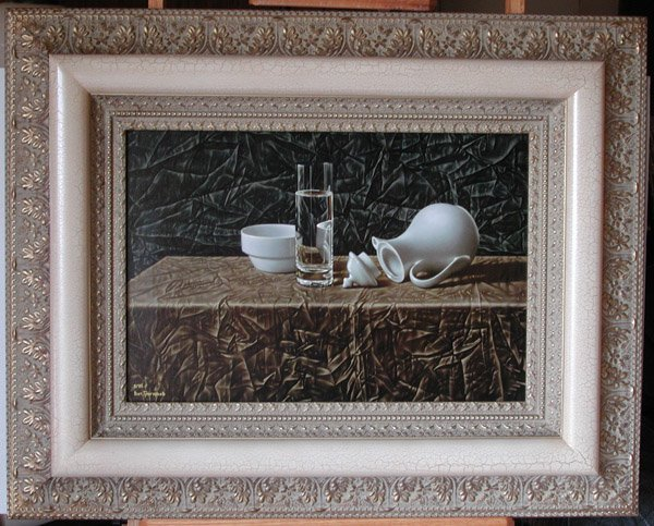 """8: """"Water in the Glass"""" Vitally Grigoryev (Russian, b."""