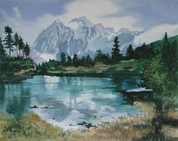 "12: ""Mountain Lake"" Valentina Belova (Russian, b. 1958)"