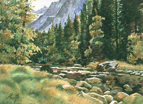 "13: ""Mountain River"" Valentina Belova (Russian, b. 1958"