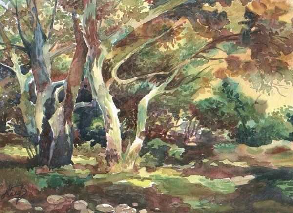 """14: """"Summer Garden"""" Valentina Belova (Russian, b. 1958)"""