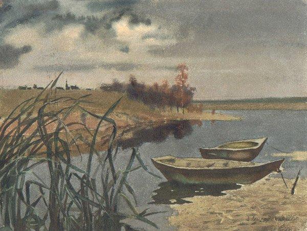 "16: ""On the River"" Anna Landowska (Ukraine, b. 1962). 1"