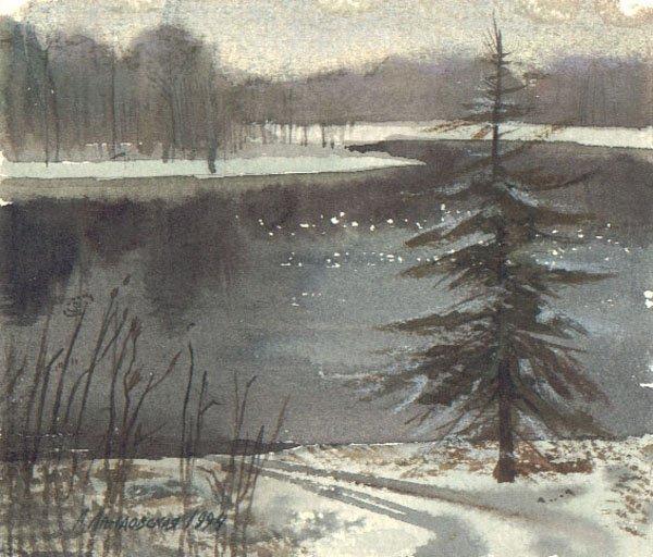 "19: ""Early Winter"" Anna Landowska (Ukraine, b. 1962). 1"