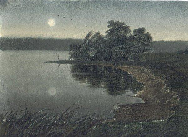 """22: """"Moonlight Night"""" Anna Landowska (Ukraine, b. 1962)"""