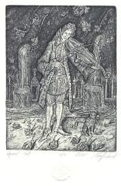 "47: ""Violinist"" Leonid Stroganov (Russia, b.1979). Orig"