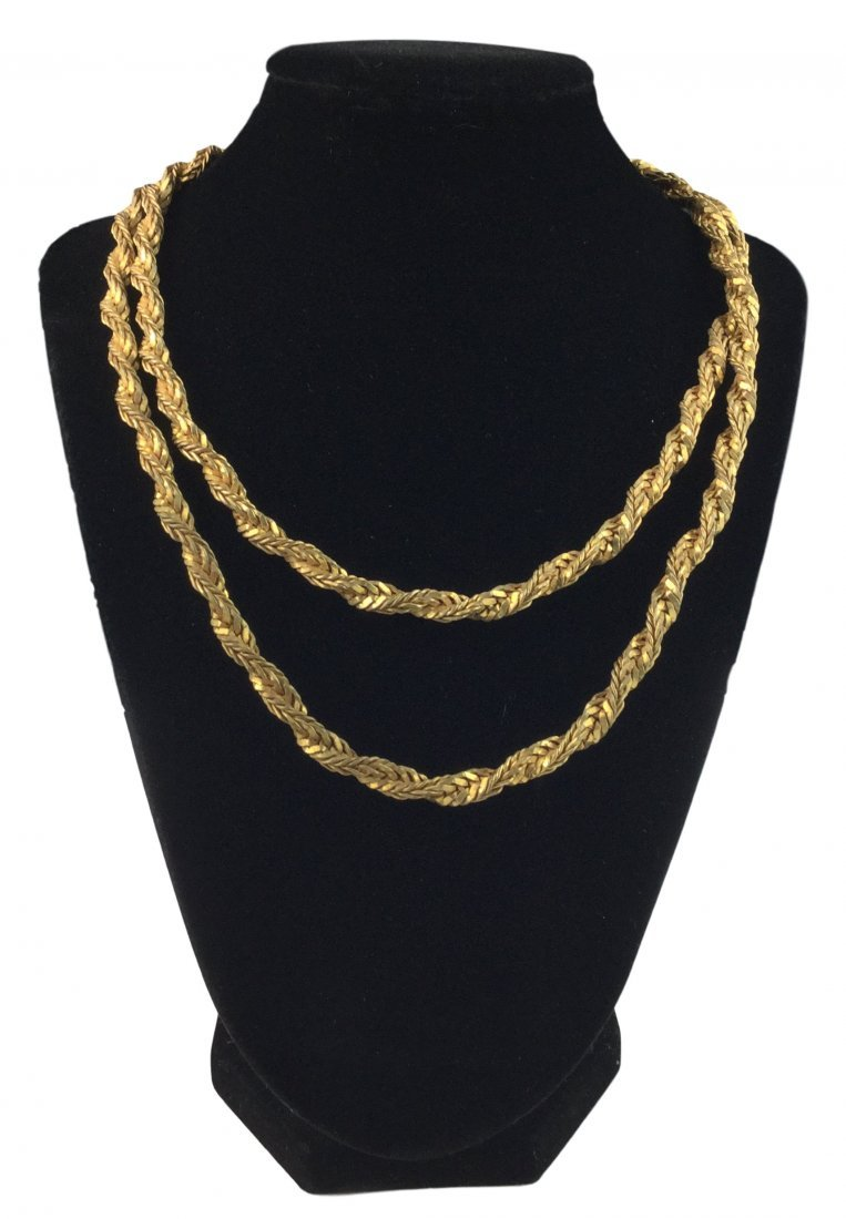 Rare Miriam Haskell Chain Necklace