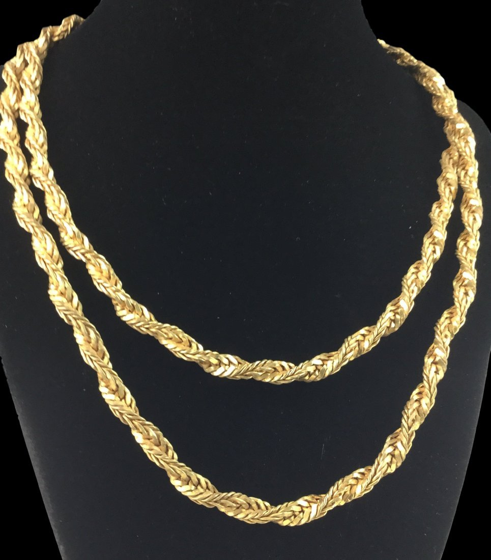 Rare Miriam Haskell Chain Necklace - 2