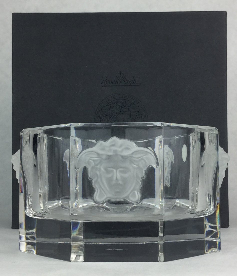 VERSACE Crystal Wine Coaster with Box