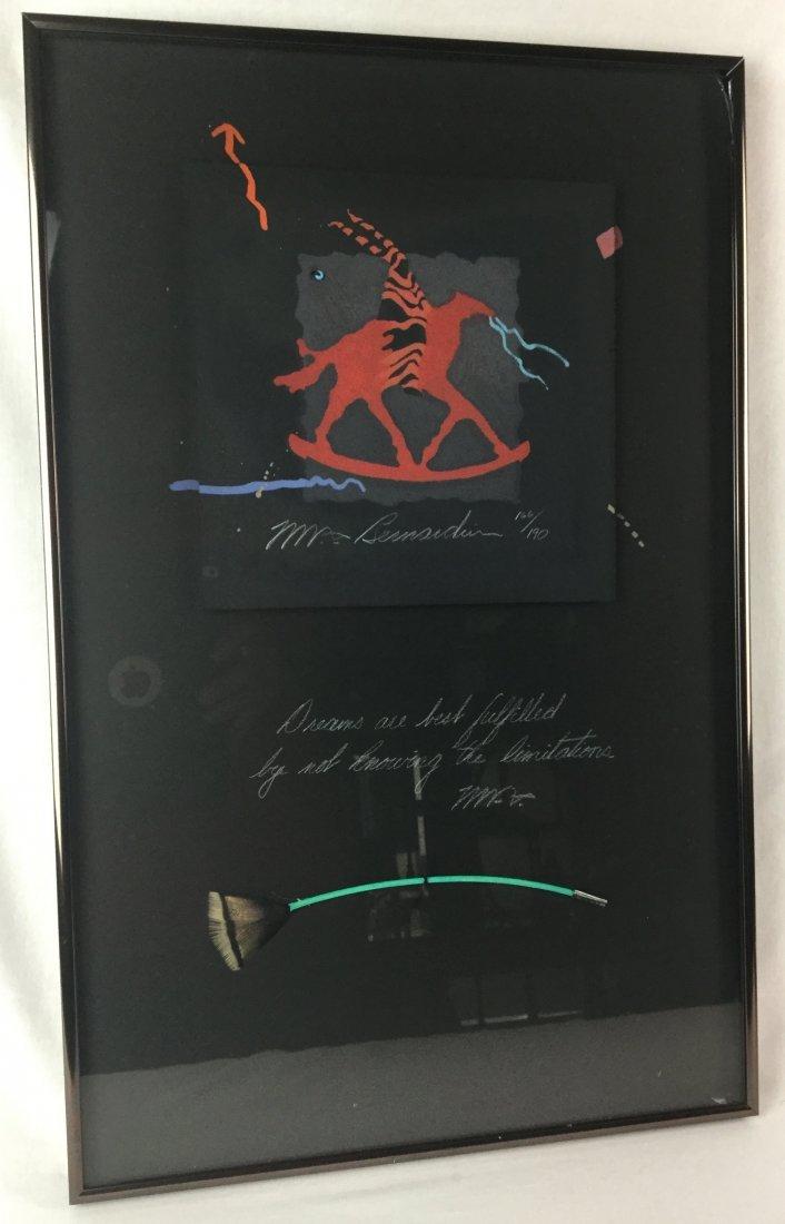 M. Bernardin Signed Lithograph
