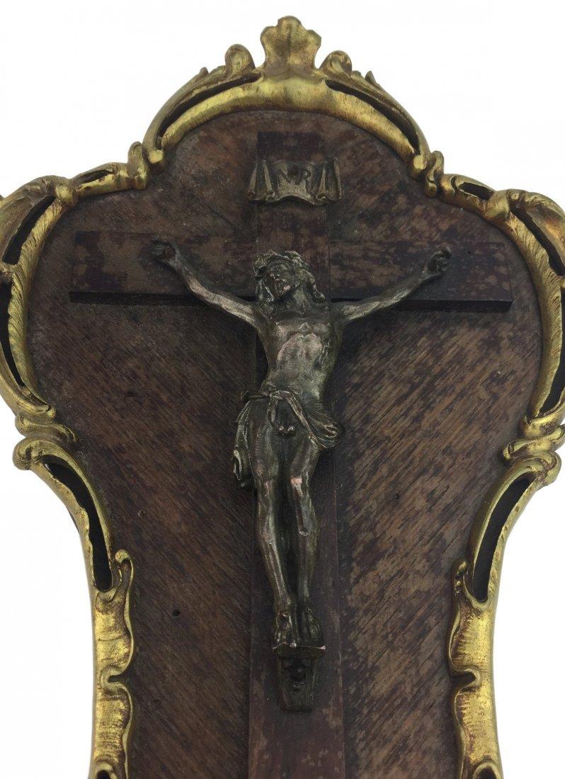 1800's Gold Gilt Bronze Religious Icon - 2