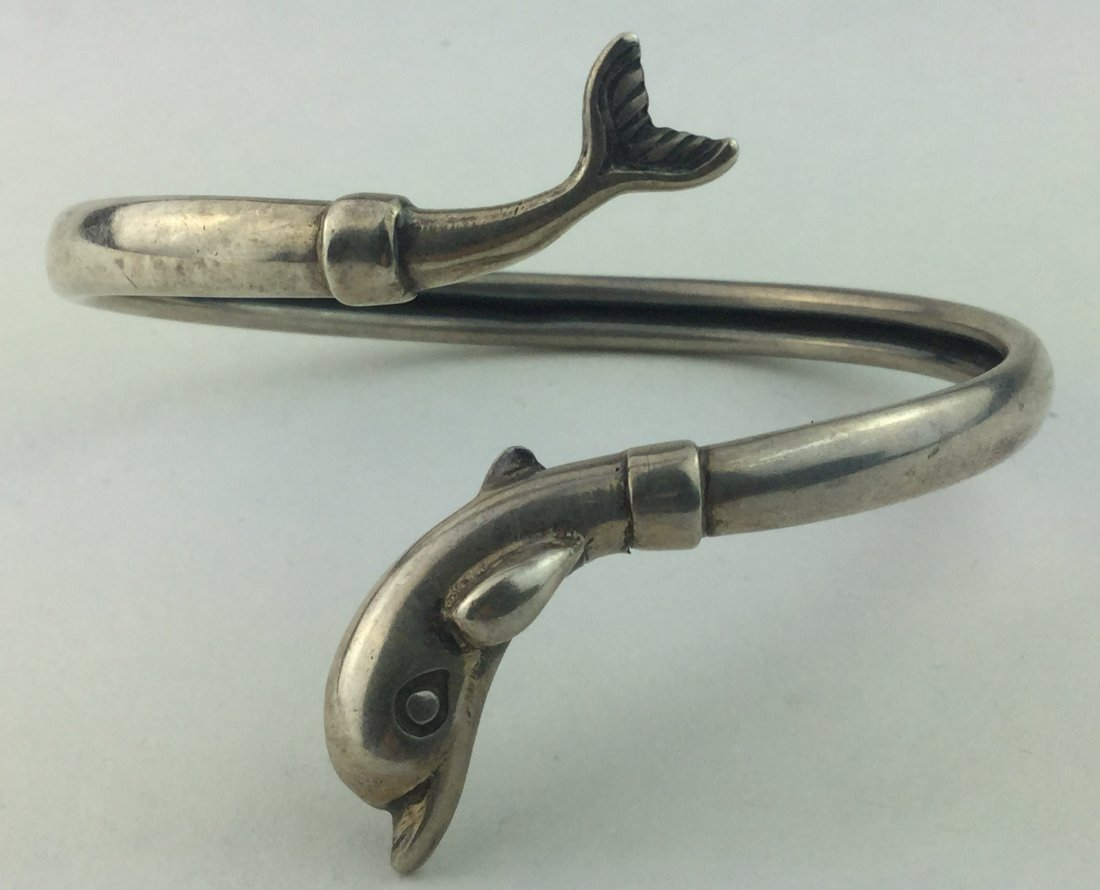Designer 925 Sterling Dolphin Bracelet