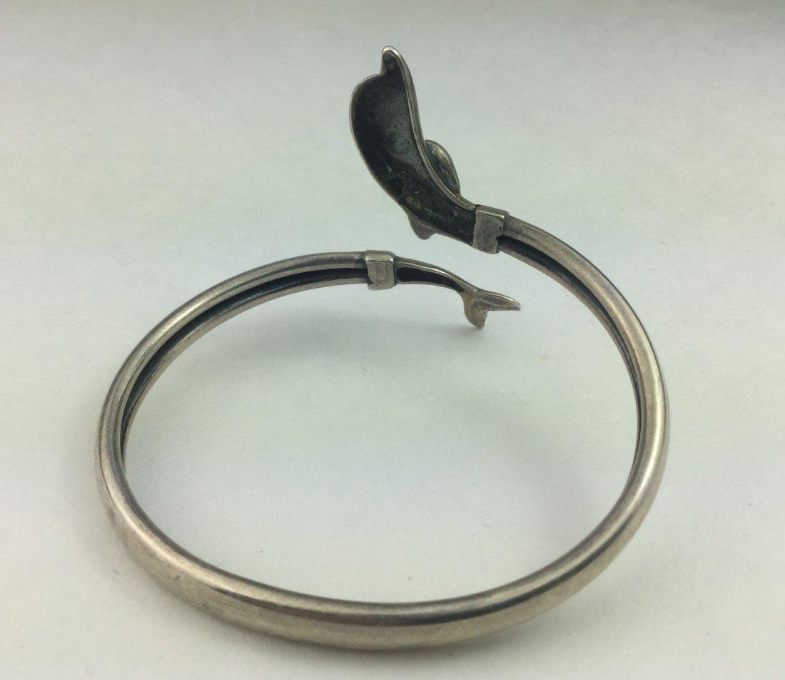 Designer 925 Sterling Dolphin Bracelet - 2