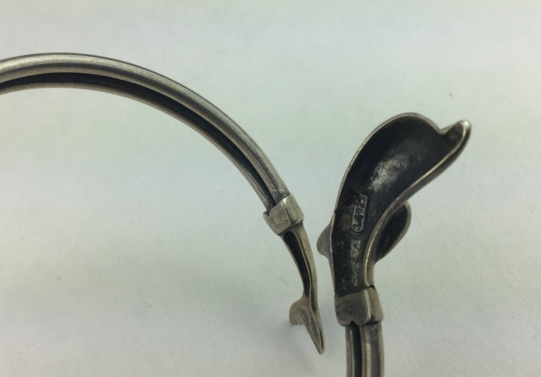 Designer 925 Sterling Dolphin Bracelet - 3