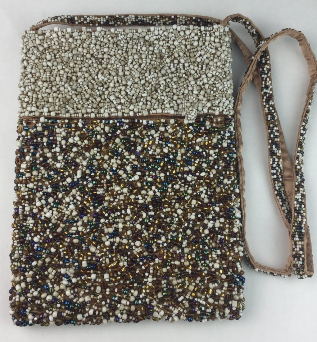 Gorgeous Hand Beaded Vintage Purse with Strap