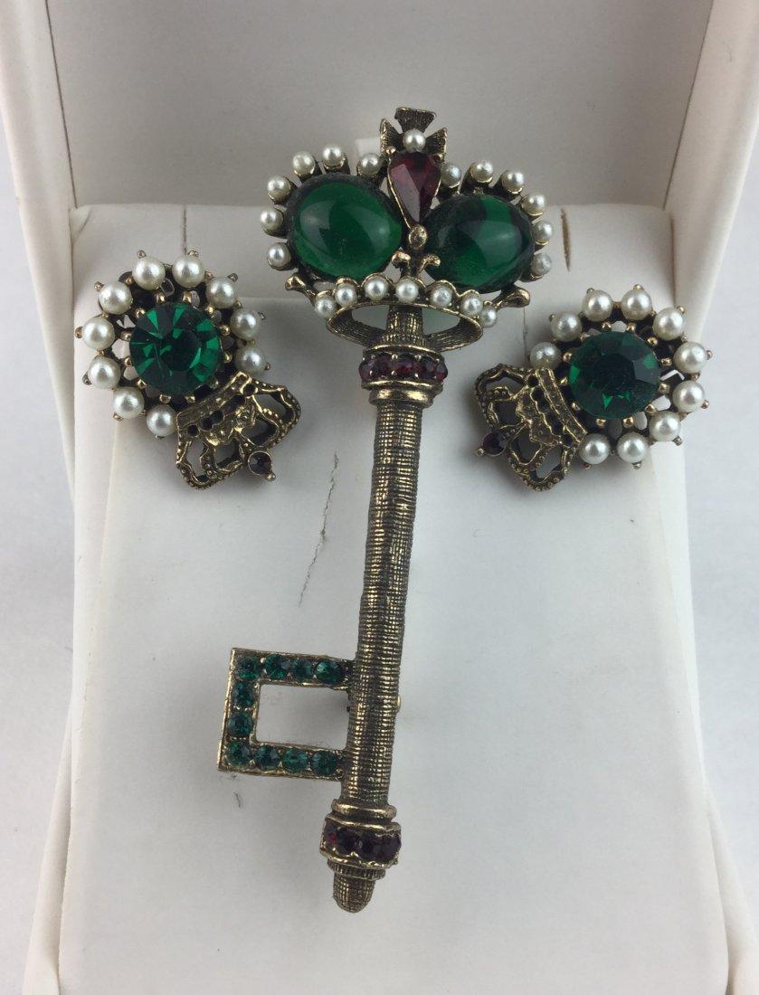 Vintage Weiss Brooch & Earrings