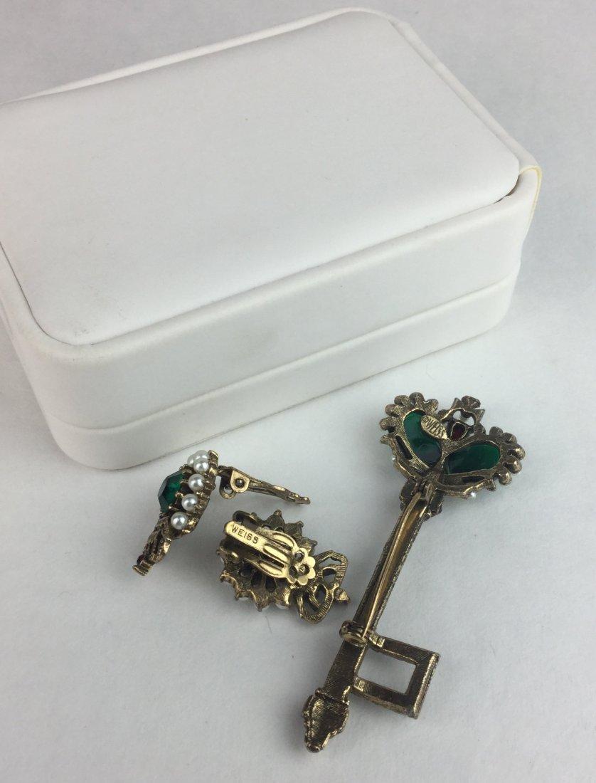 Vintage Weiss Brooch & Earrings - 2