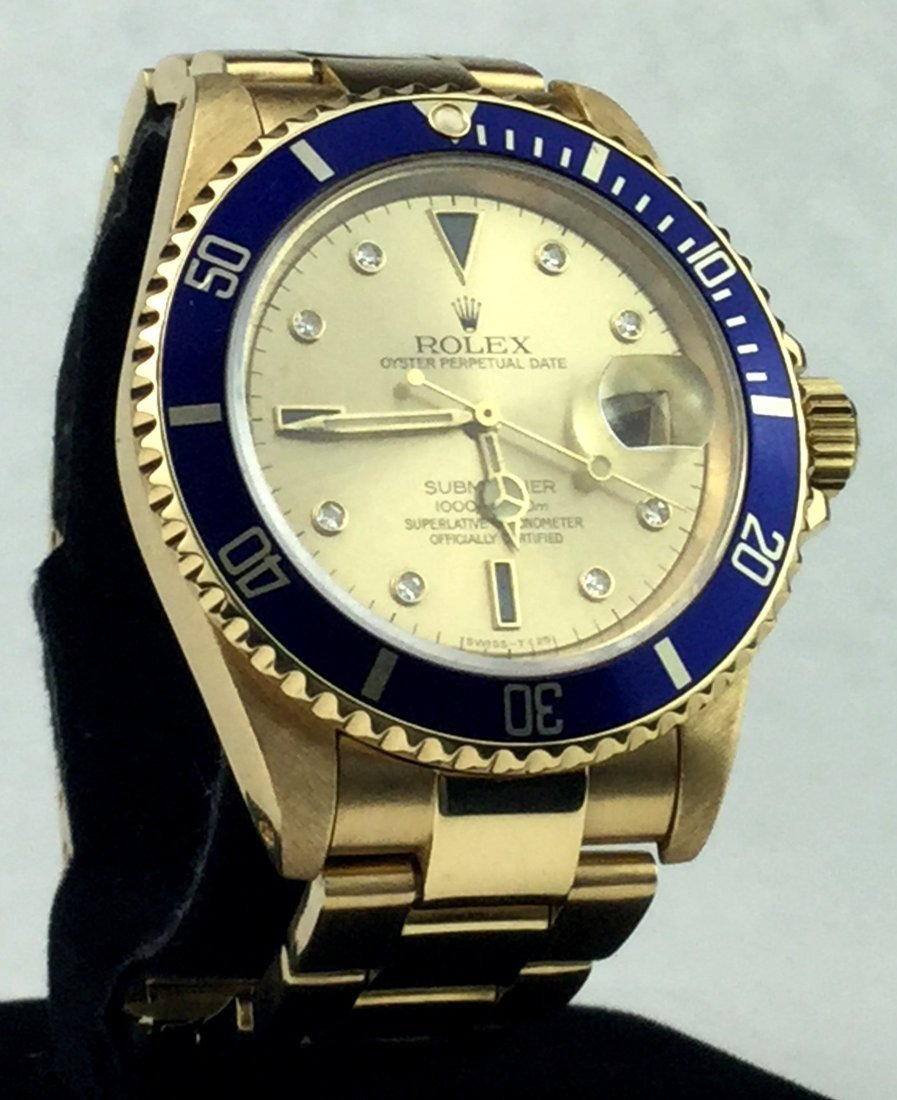 18 KT Yellow Gold ROLEX Oyster Perpetual Watch