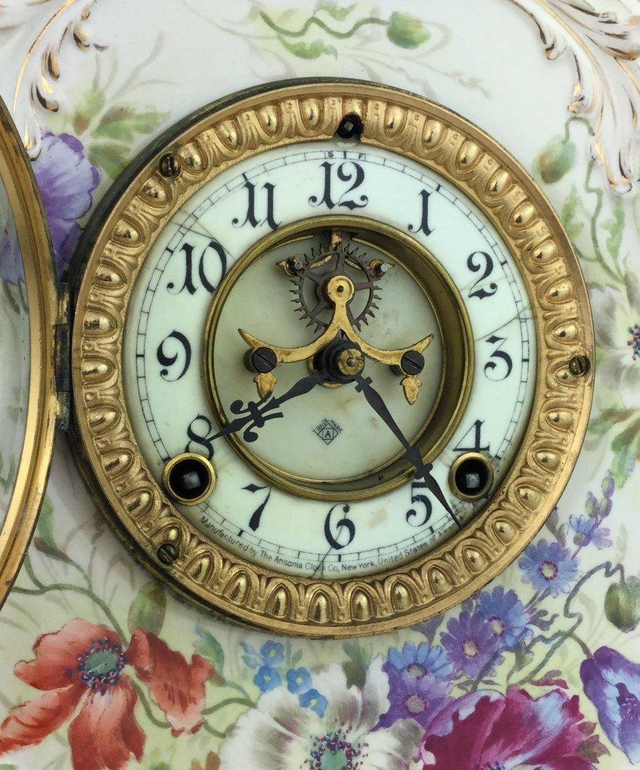 Ansonia Royal Bonn La Nord Porcelain Clock - 2