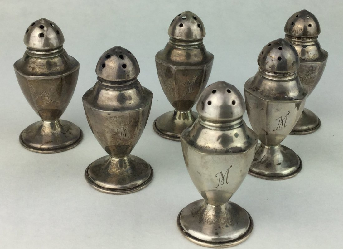 Antique Sterling Silver Shakers - 3