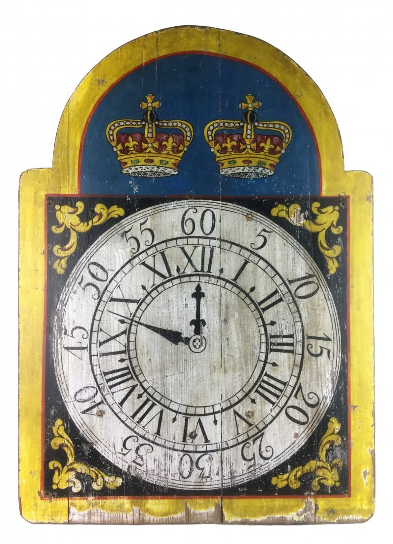 Awesome Painted Clock on Wood