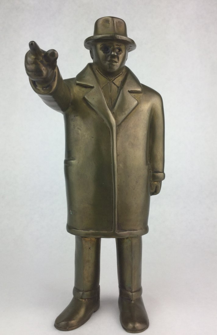 Numbered Brass Statue of TEAMSTER