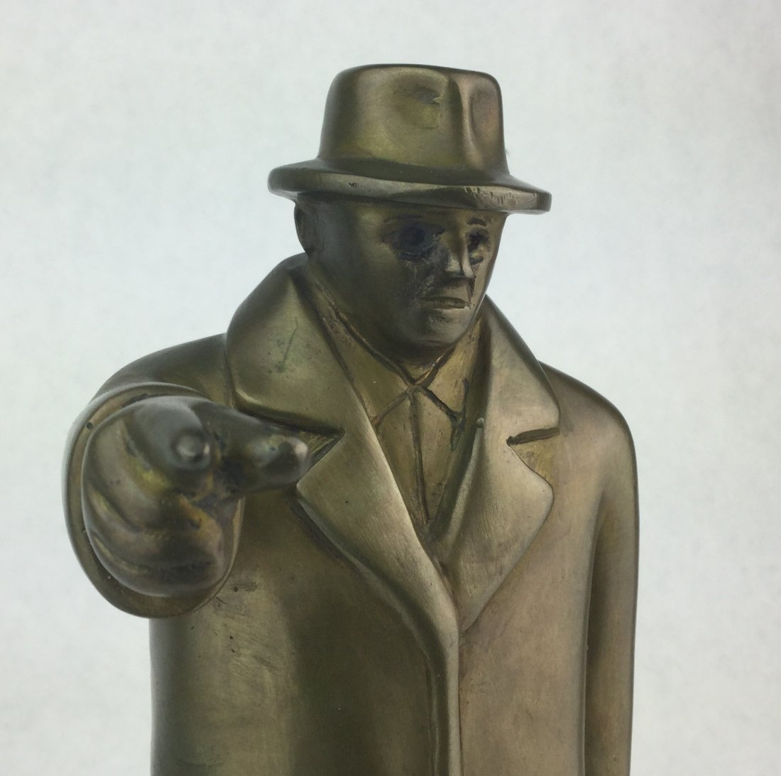 Numbered Brass Statue of TEAMSTER - 2