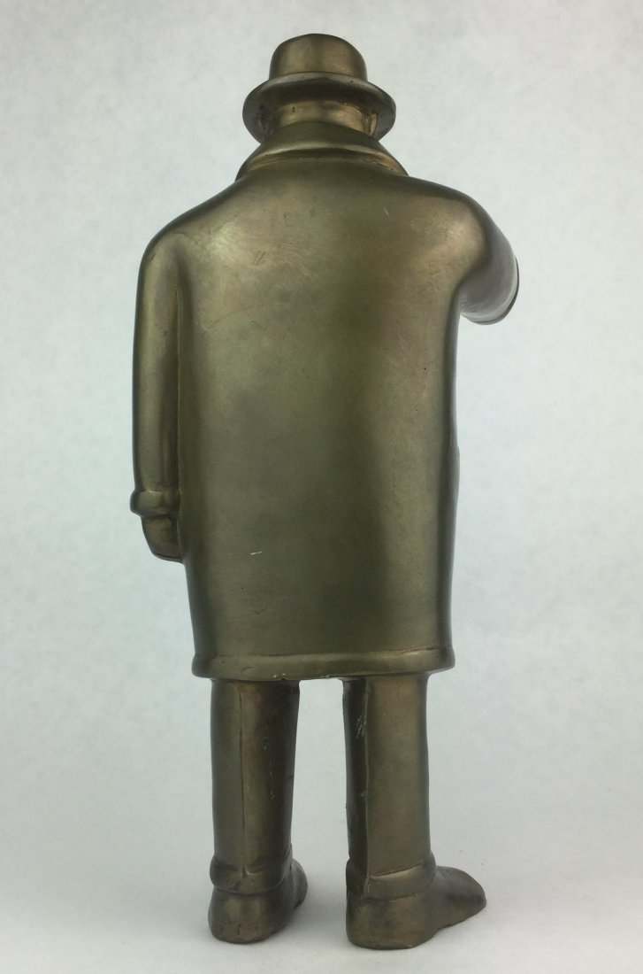 Numbered Brass Statue of TEAMSTER - 4