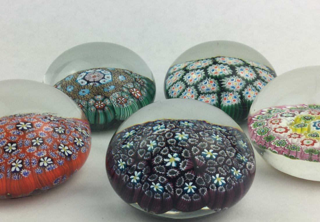 Millefiori Glass Paperweight Collection Murano ITALY