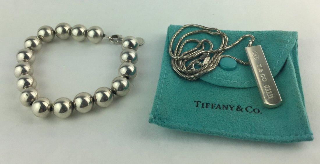 Tiffany & Co Sterling 925 Ball Bead Bracelet Necklace