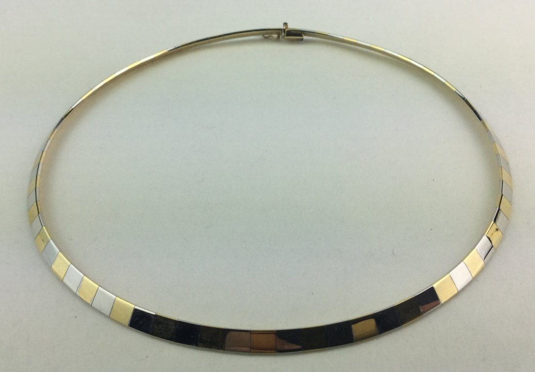 14KT Italian Gold Choker Necklace 31.2 Grams