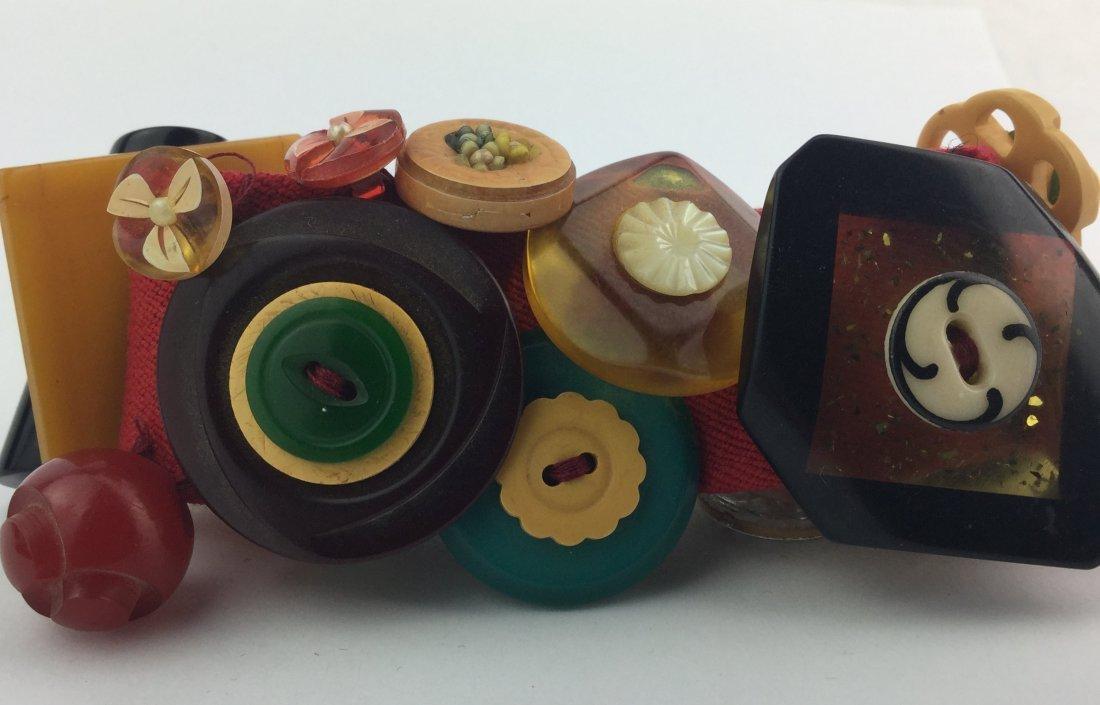 Vintage Bakelite Hand made Bracelet - 2