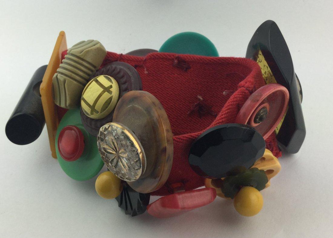 Vintage Bakelite Hand made Bracelet - 3