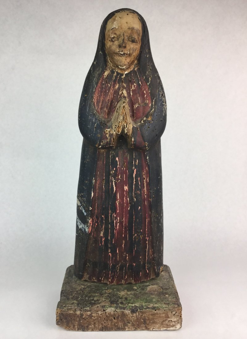 Late 18th Century Santos Religious Carved Statue
