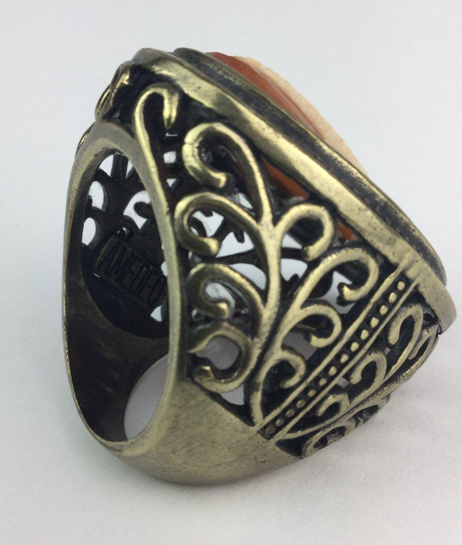 Cornelian Shell Cameo Ring by AMEDEO - 2