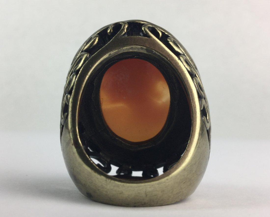 Cornelian Shell Cameo Ring by AMEDEO - 3