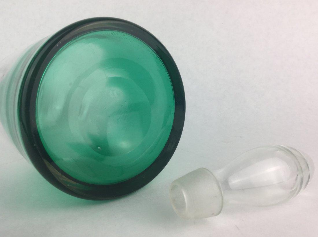 Hand Blown Art Glass Decanter - 2