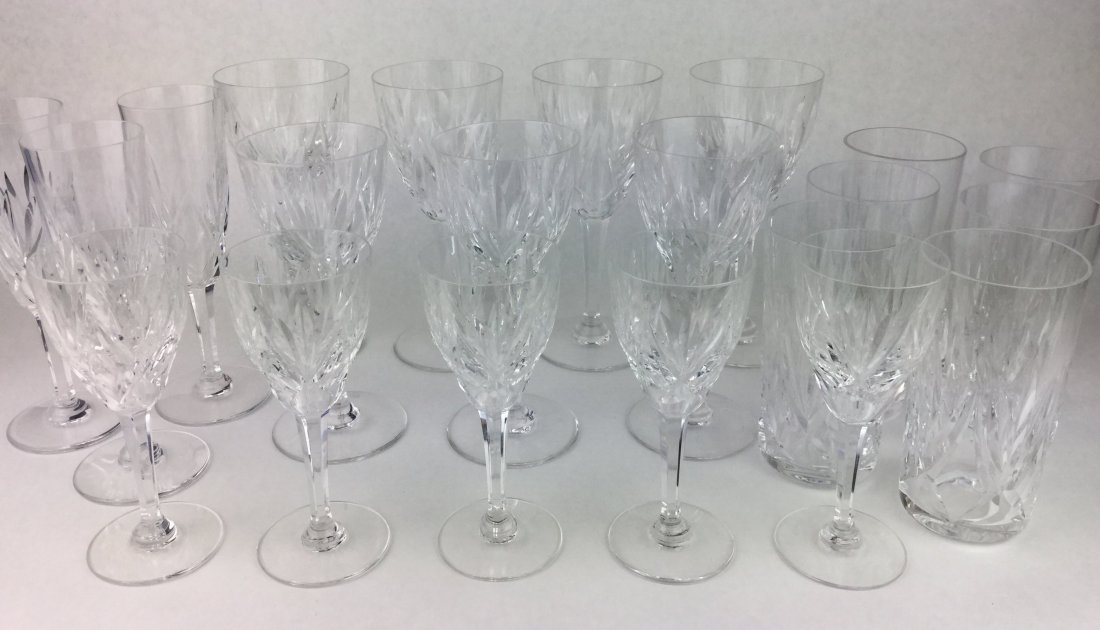 Fabulous St. Louis Cut Crystal Stemware Collection