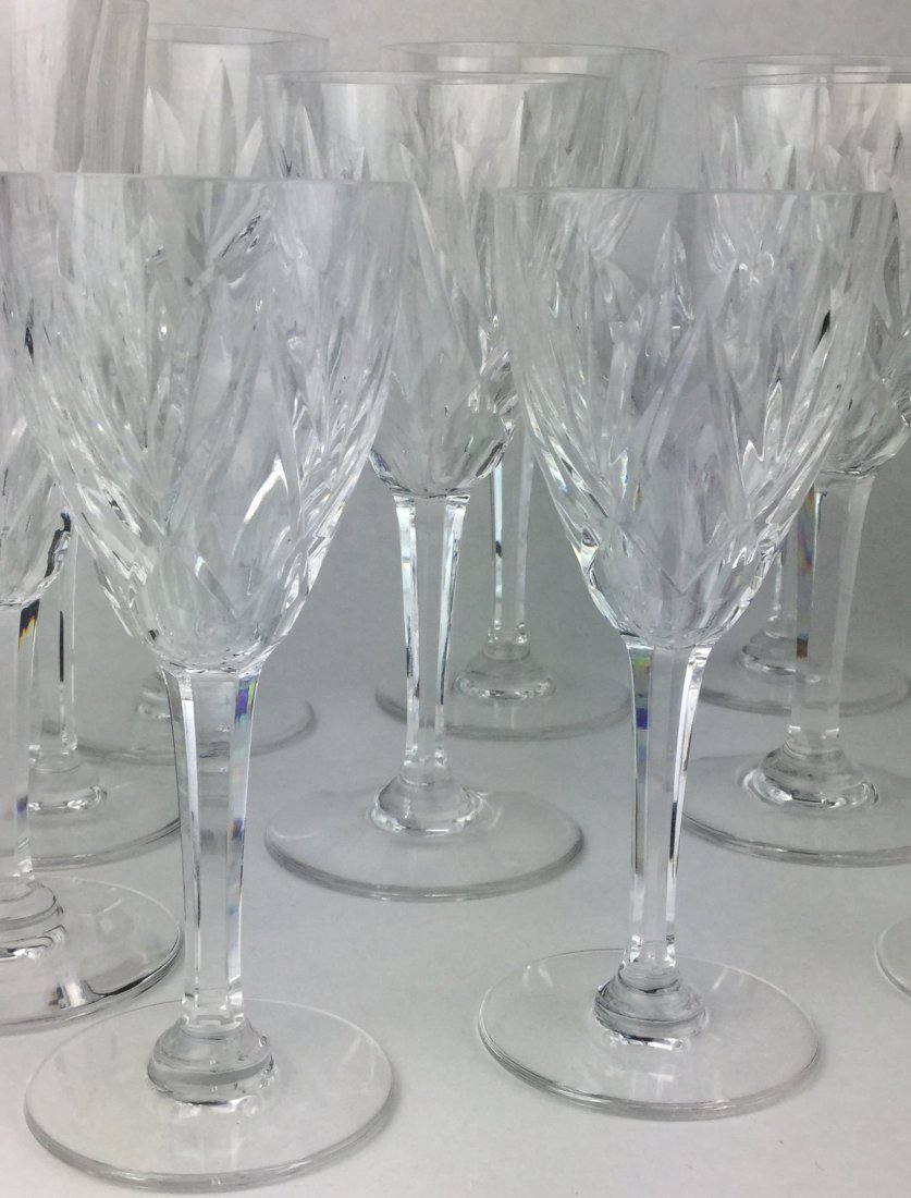 Fabulous St. Louis Cut Crystal Stemware Collection - 3