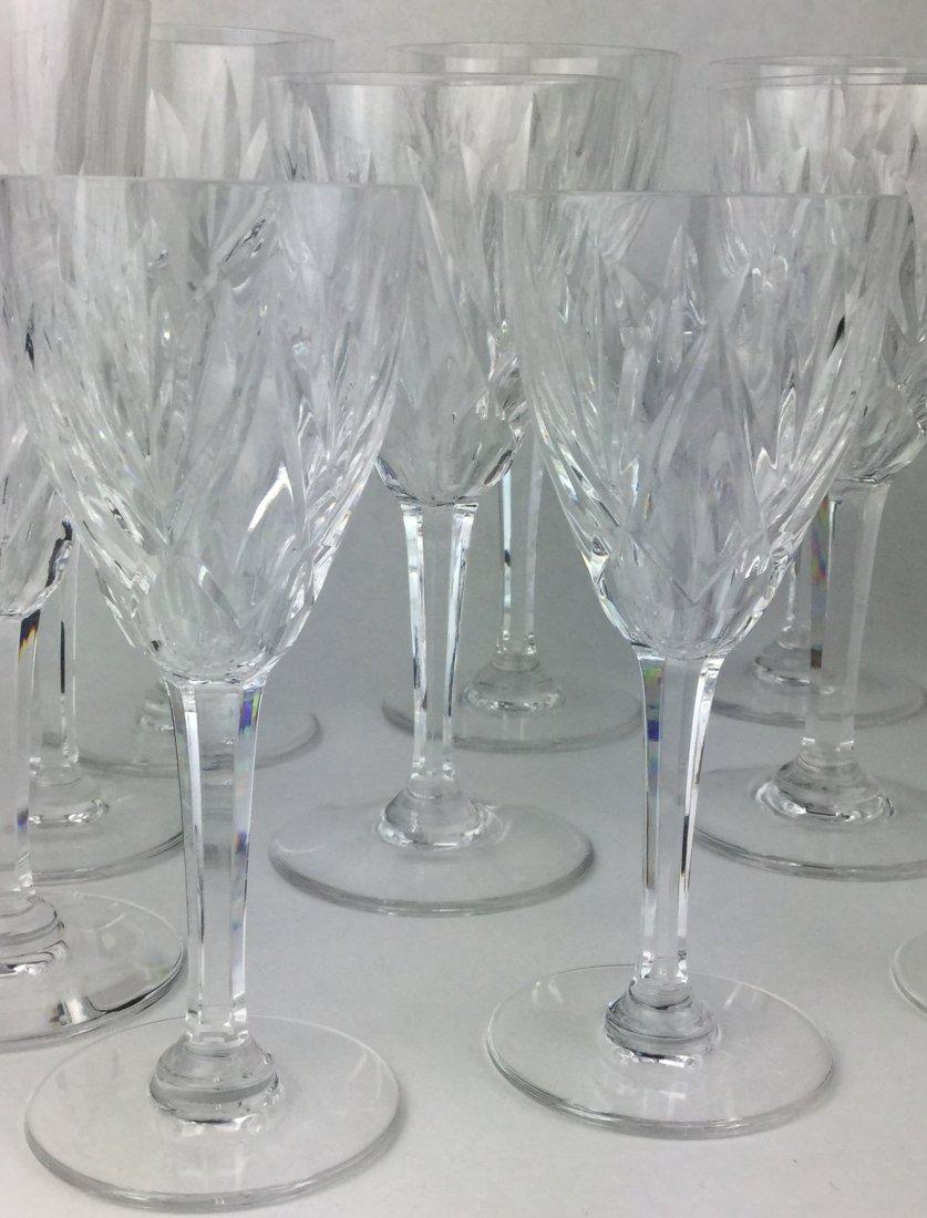 Fabulous St. Louis Cut Crystal Stemware Collection - 3