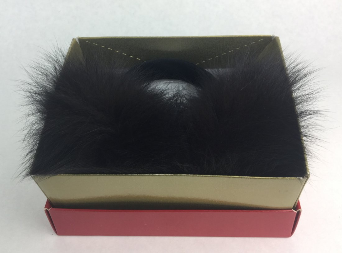 Vintage Black Fox Fur Ear Muffs from Nieman Marcus - 3