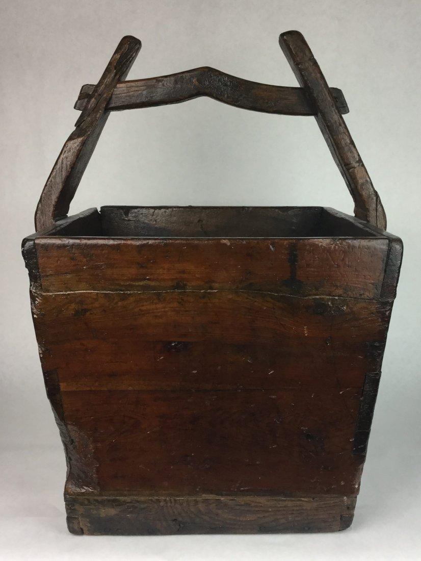 Large Primitive Basket with Handle