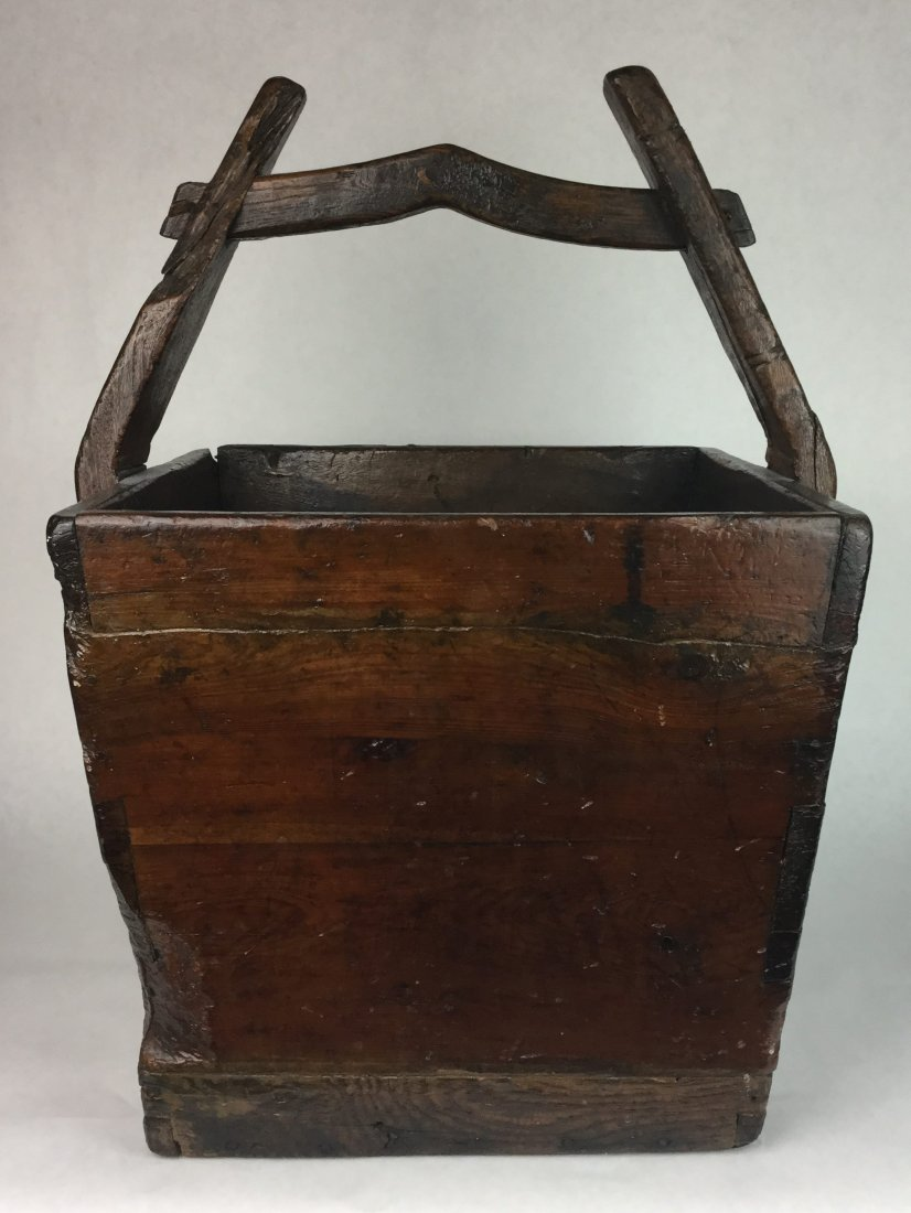Large Primitive Basket with Handle