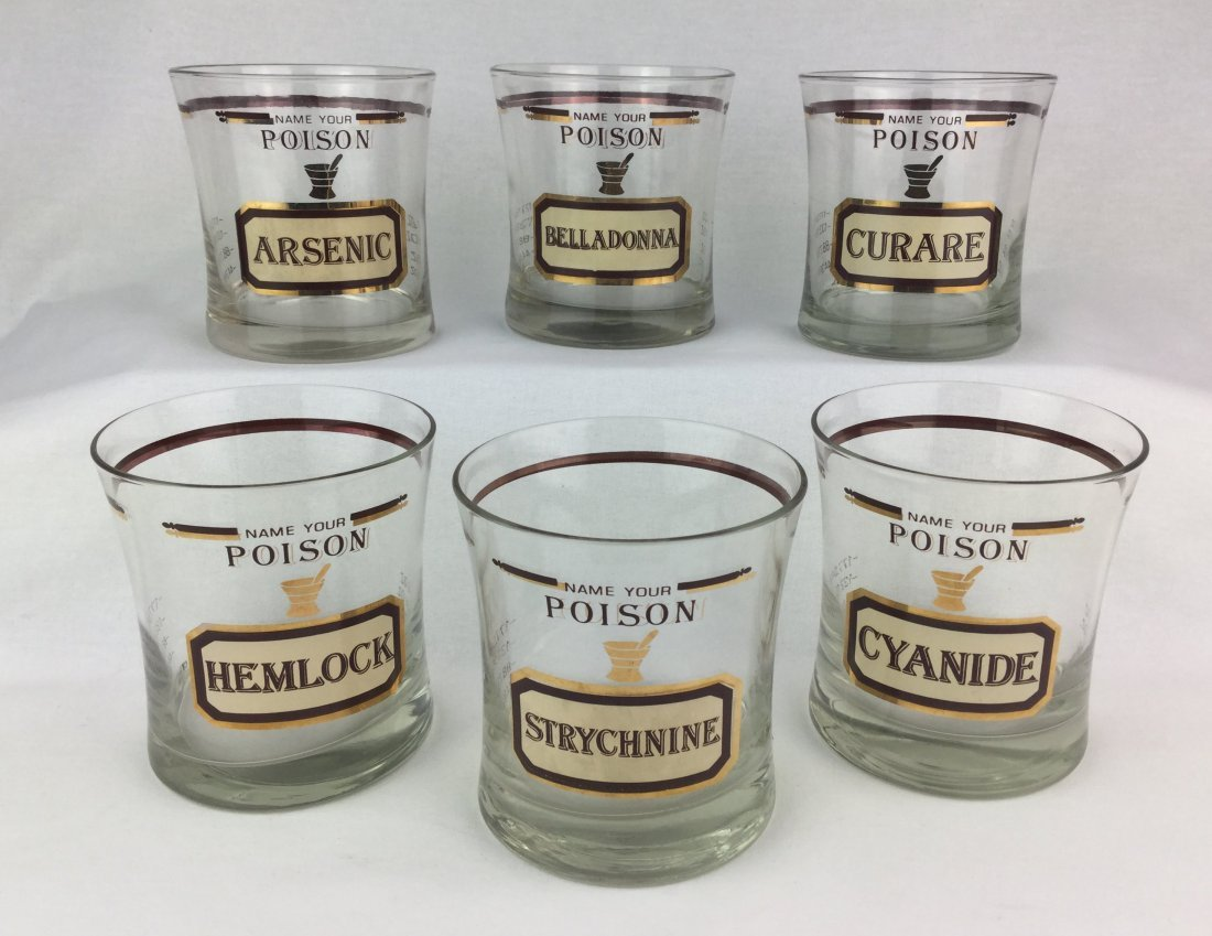 Neiman Marcus by Cera  Name Your Poison Glasses - 2