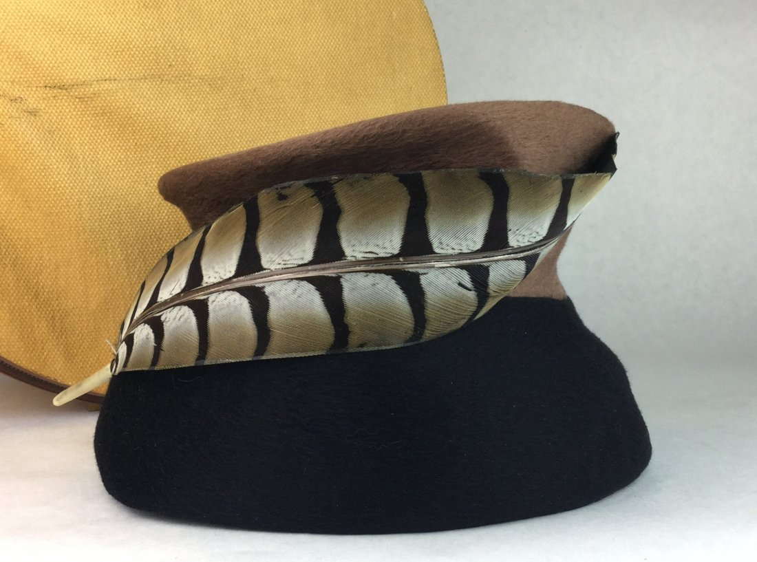 Vintage Feather Hat & Box out of Brentwood Estate