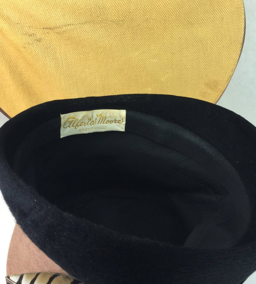 Vintage Feather Hat & Box out of Brentwood Estate - 4