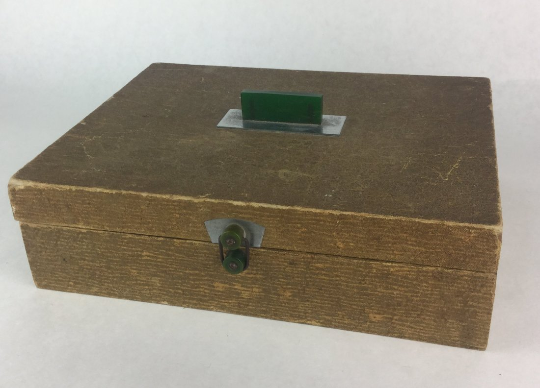 Estate Jewelry Collection with Bakelite Handle Box - 3