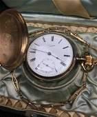 Louis Jacot Antique Gold Filled Pocket Watch