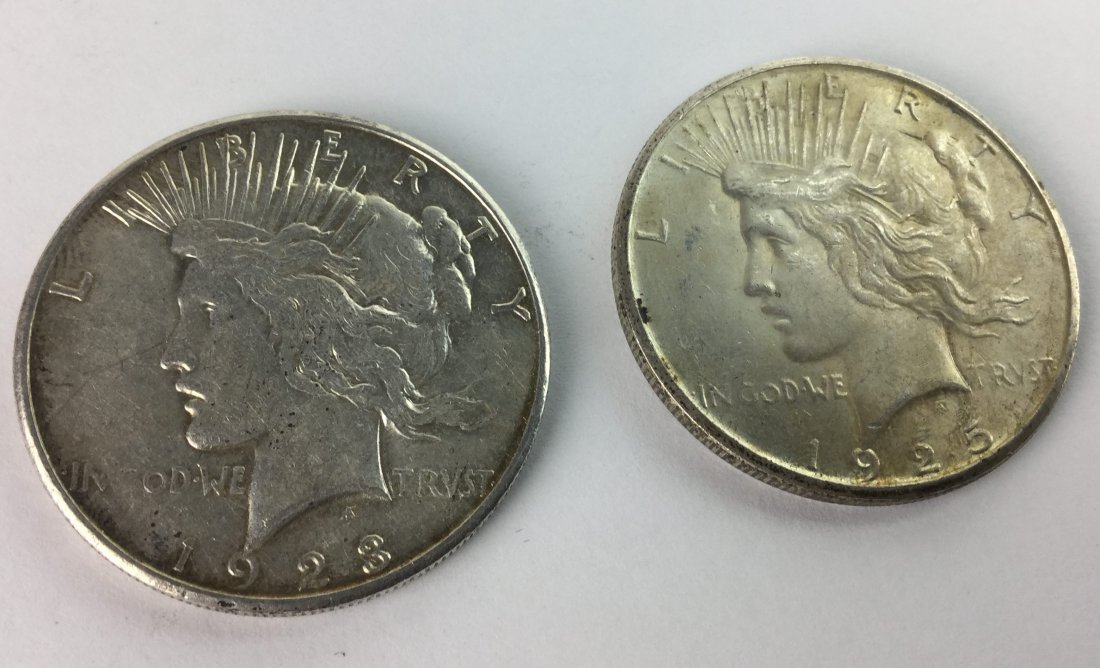Rare Sterling Silver Liberty PEACE Coins